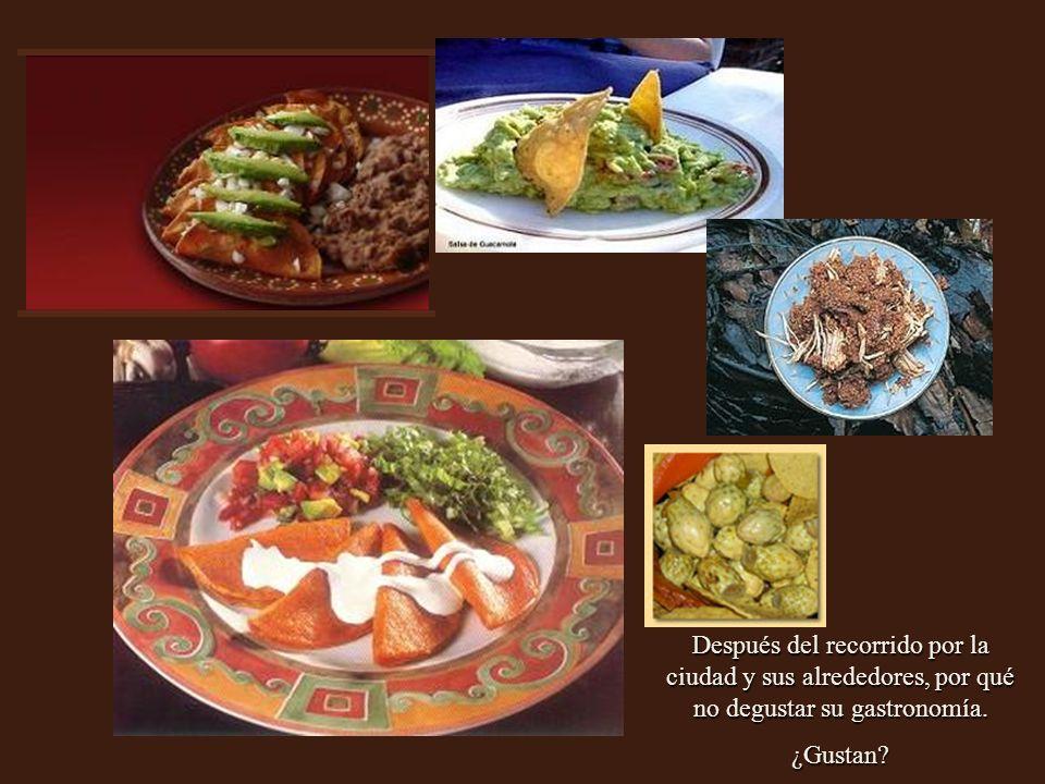 Después del recorrido por la ciudad y sus alrededores, por qué no degustar su gastronomía.