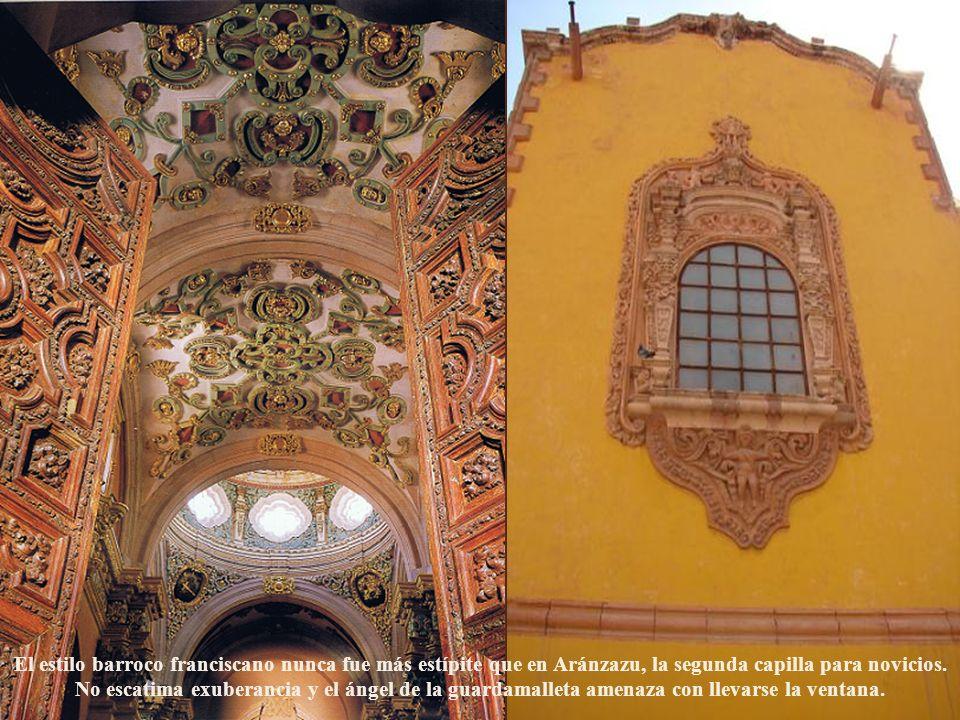 El estilo barroco franciscano nunca fue más estípite que en Aránzazu, la segunda capilla para novicios.