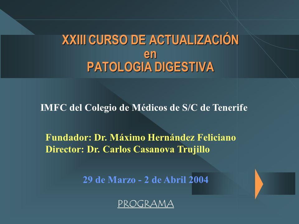 XXIII CURSO DE ACTUALIZACIÓN en PATOLOGIA DIGESTIVA