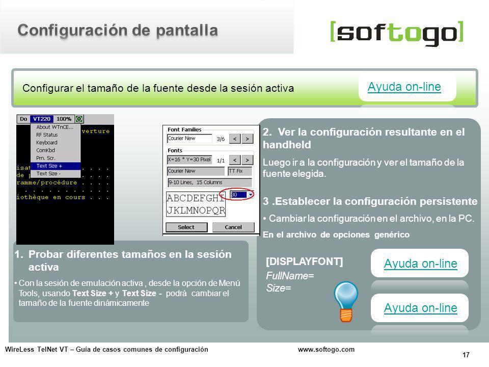 Configuración de pantalla