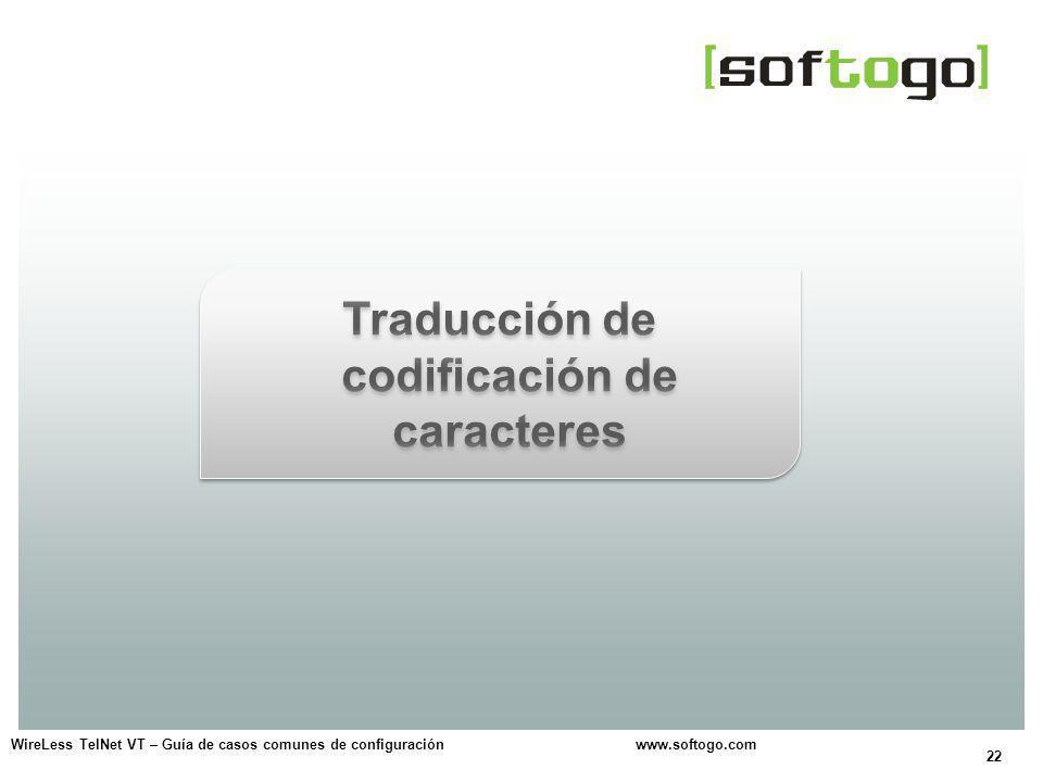Traducción de codificación de caracteres