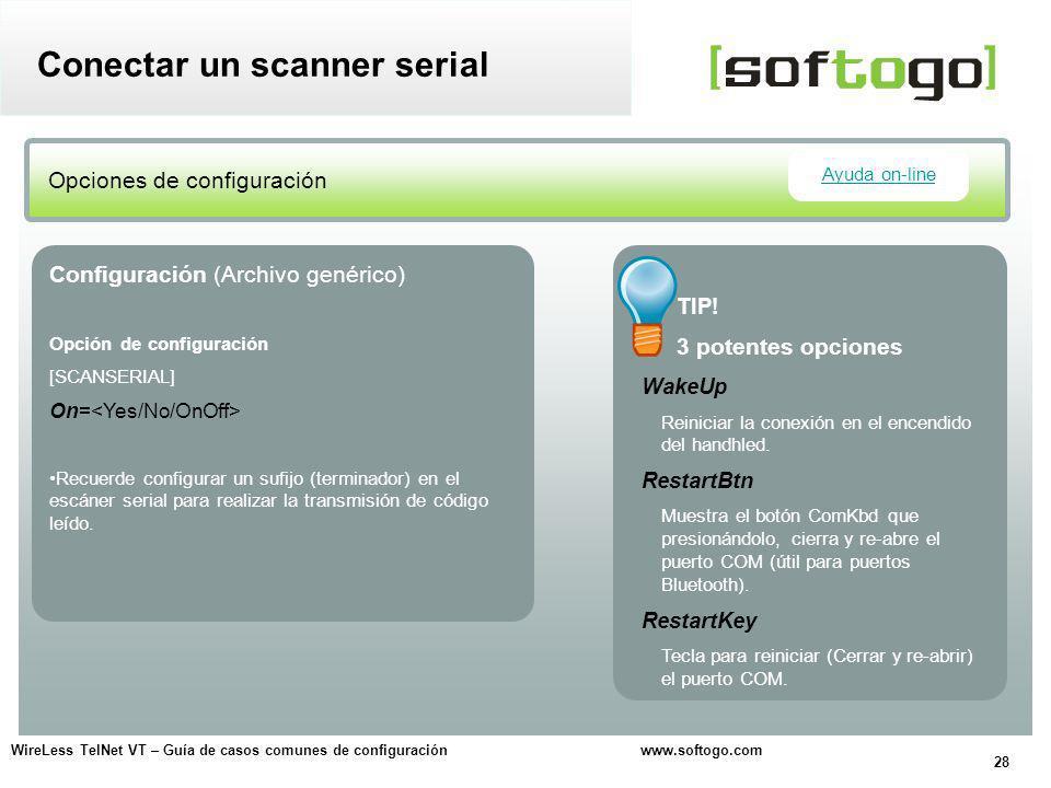 Conectar un scanner serial