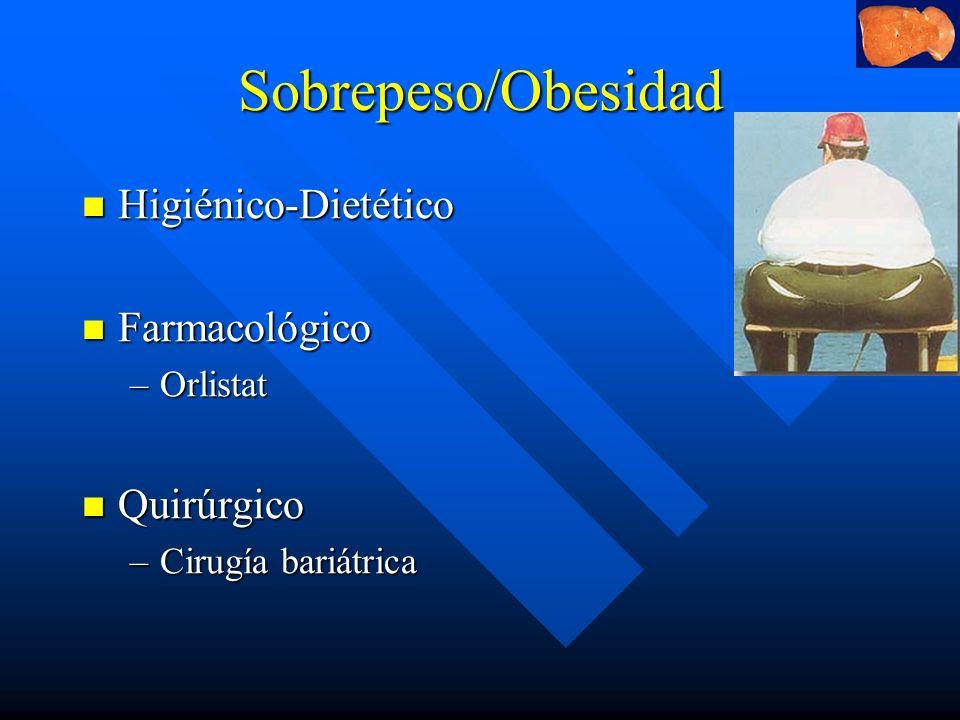 Sobrepeso/Obesidad Higiénico-Dietético Farmacológico Quirúrgico