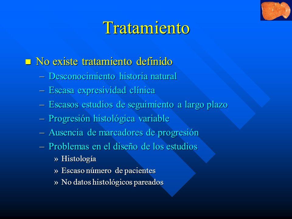Tratamiento No existe tratamiento definido