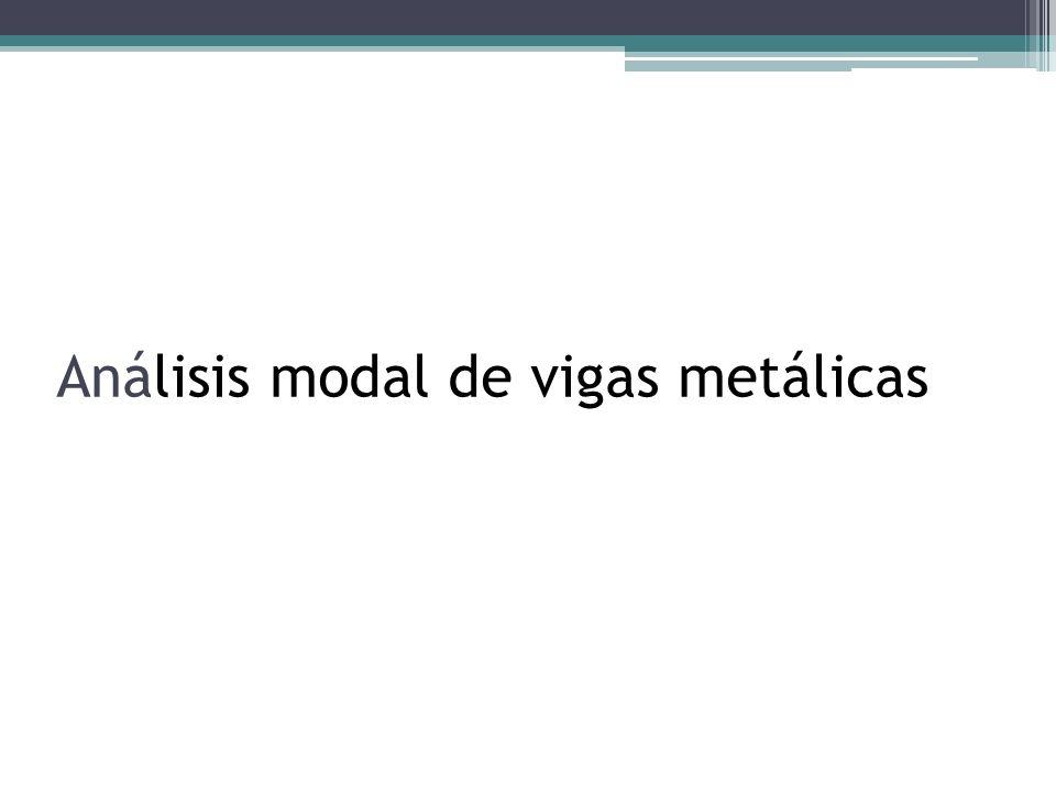 Análisis modal de vigas metálicas