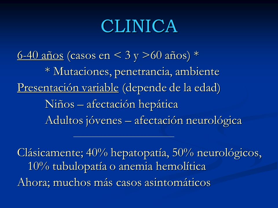 CLINICA 6-40 años (casos en < 3 y >60 años) *