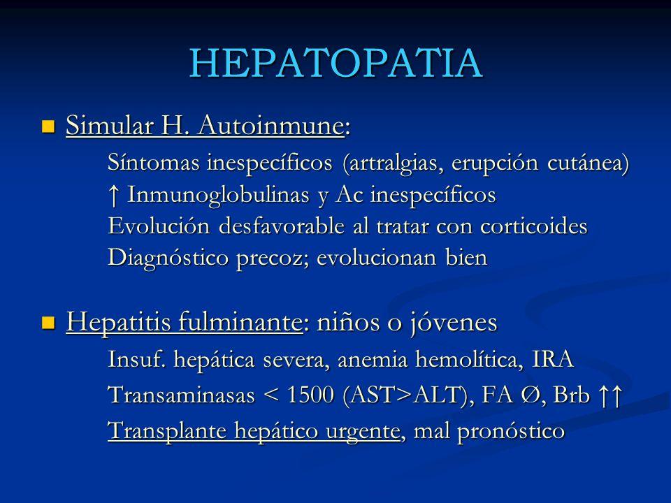 HEPATOPATIA Simular H. Autoinmune: