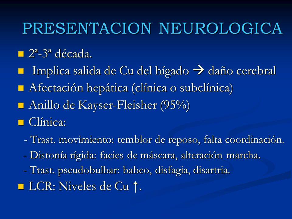 PRESENTACION NEUROLOGICA