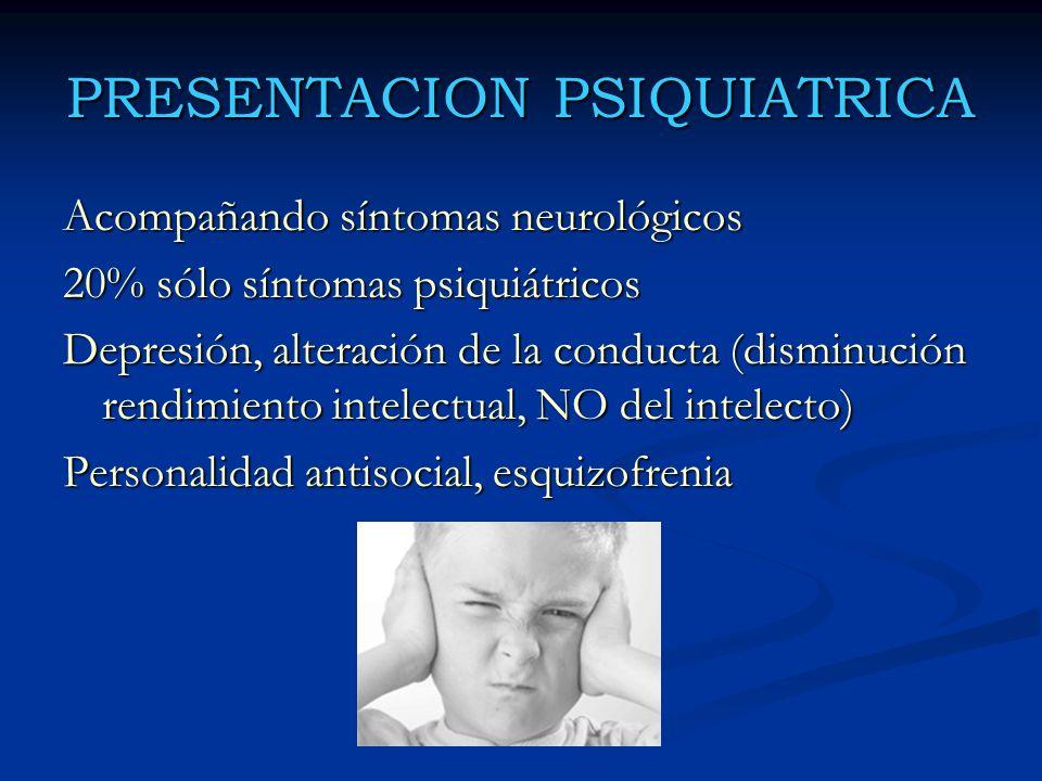 PRESENTACION PSIQUIATRICA