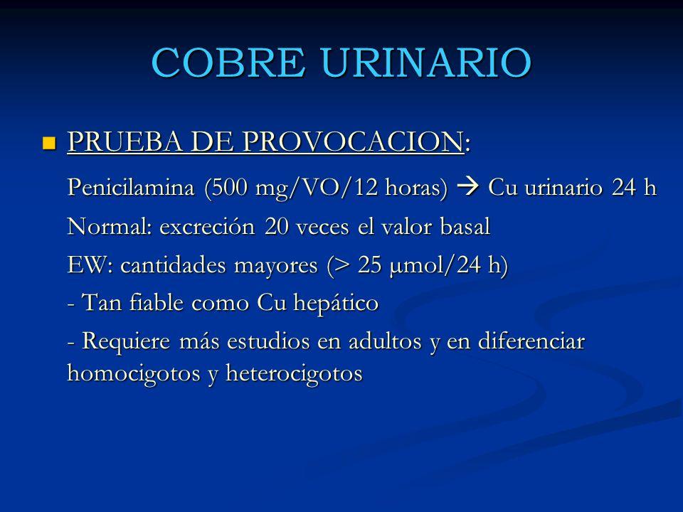COBRE URINARIO PRUEBA DE PROVOCACION: