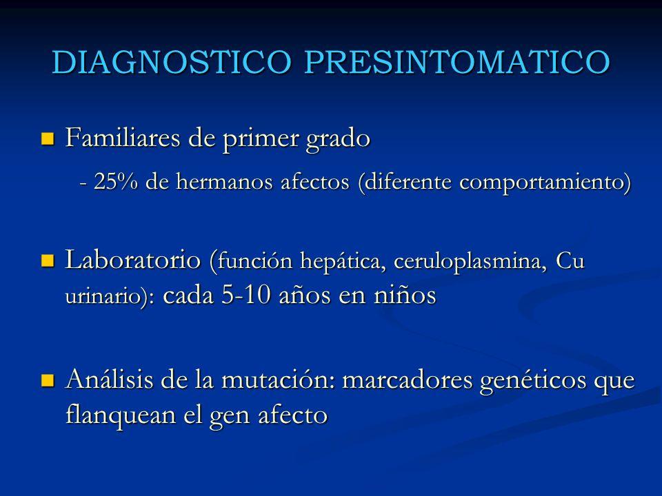 DIAGNOSTICO PRESINTOMATICO