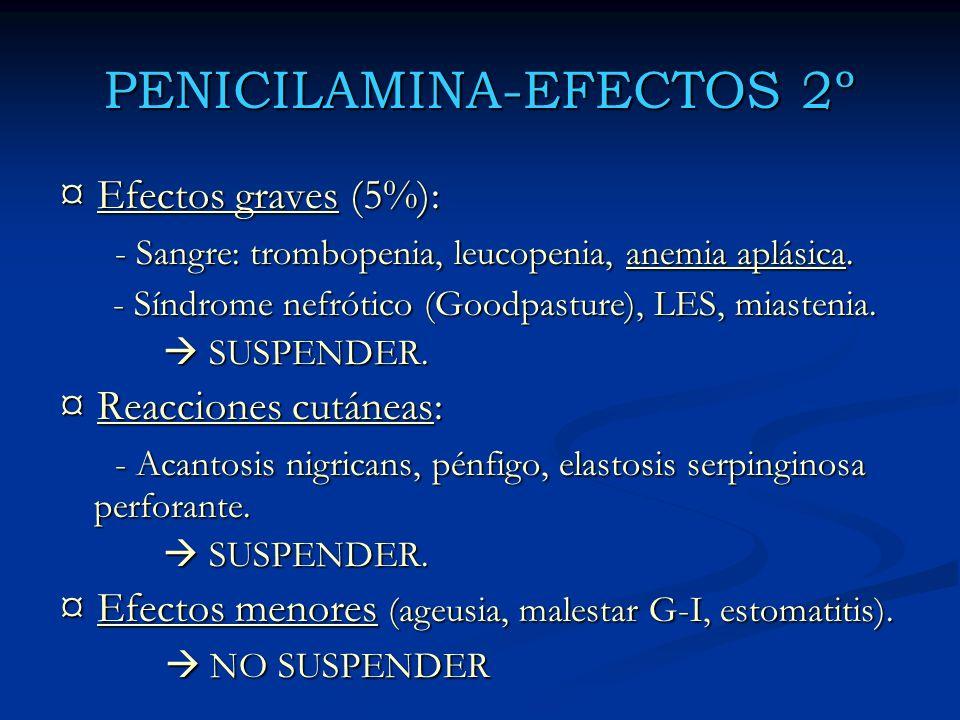 PENICILAMINA-EFECTOS 2º