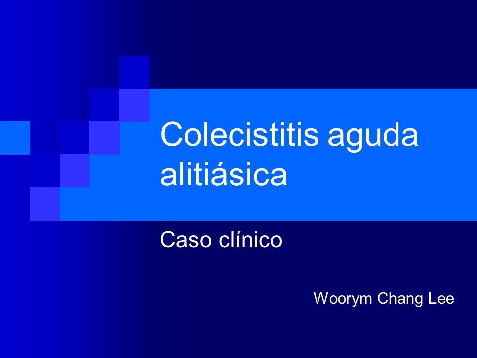 Colecistitis aguda alitiásica