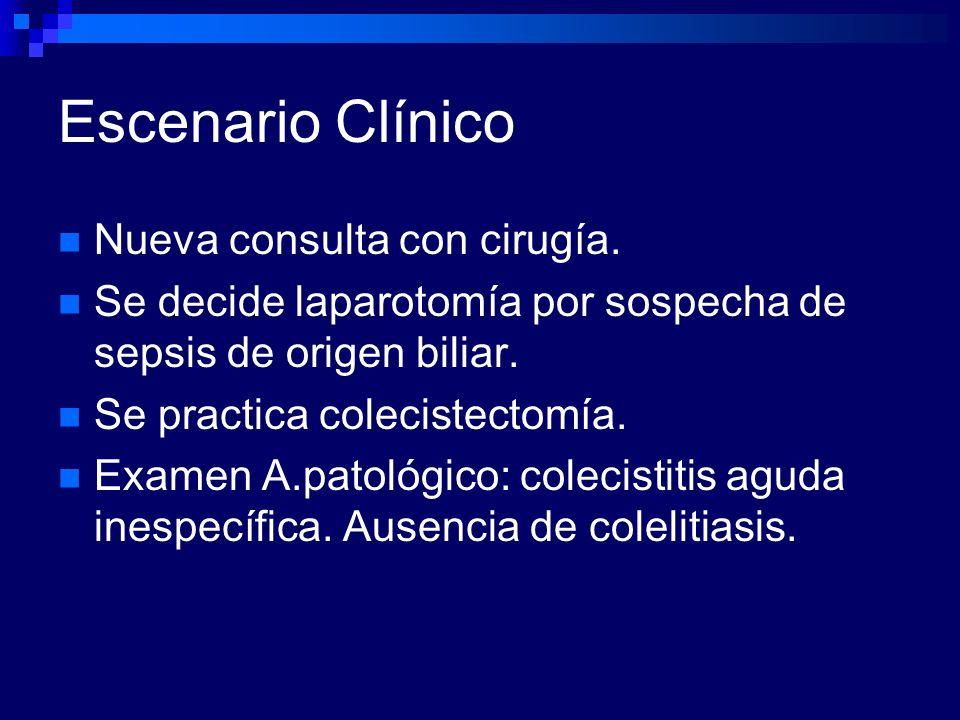 Escenario Clínico Nueva consulta con cirugía.