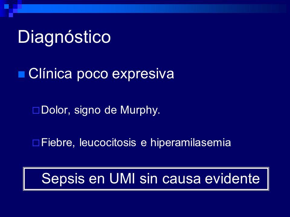 Diagnóstico Clínica poco expresiva Sepsis en UMI sin causa evidente