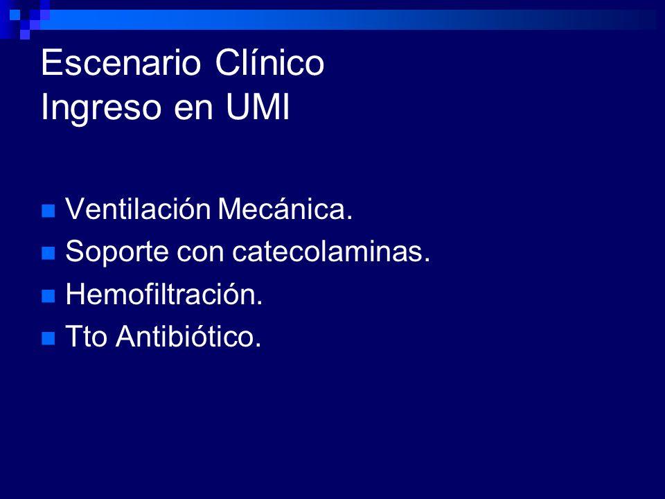 Escenario Clínico Ingreso en UMI