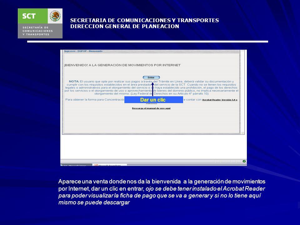 SECRETARIA DE COMUNICACIONES Y TRANSPORTES
