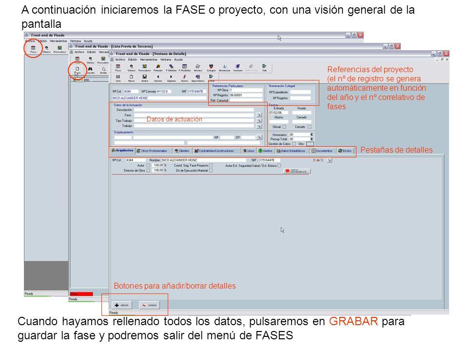 A continuación iniciaremos la FASE o proyecto, con una visión general de la pantalla