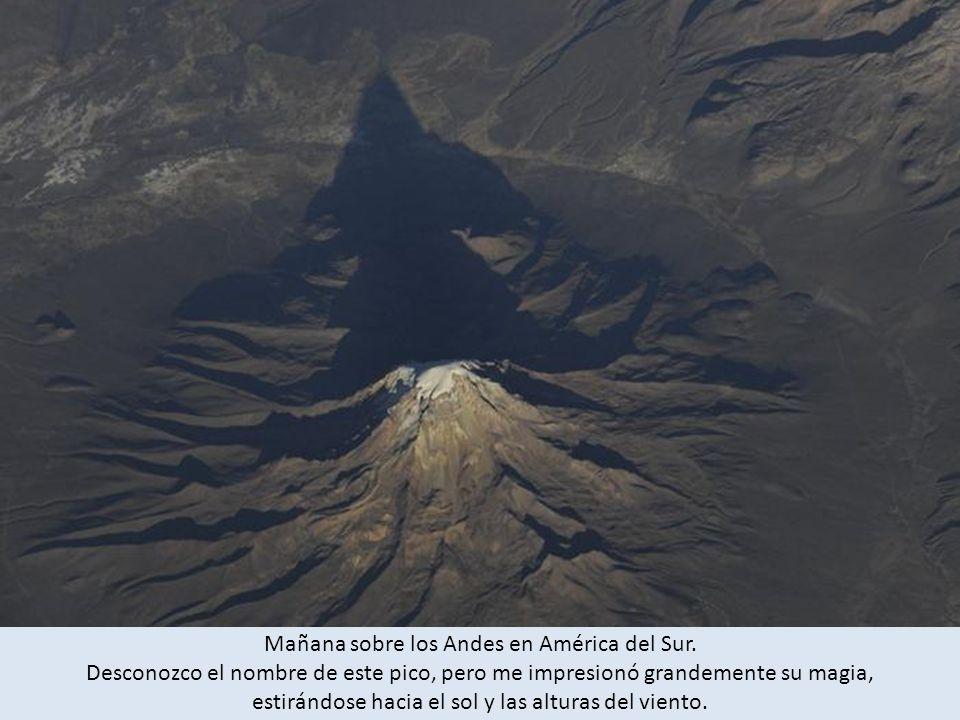 Mañana sobre los Andes en América del Sur.