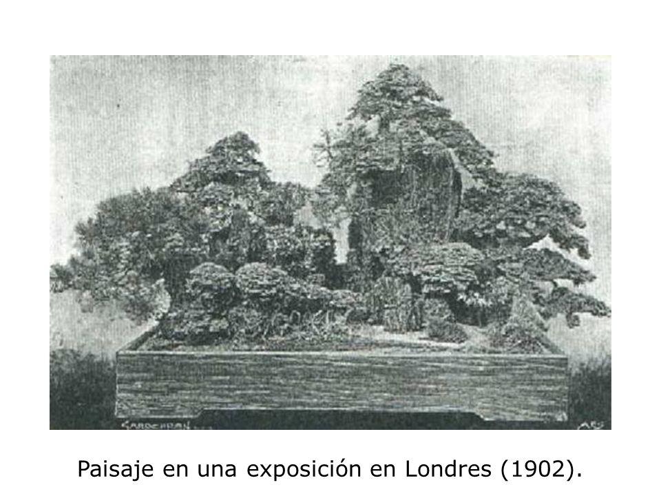 Paisaje en una exposición en Londres (1902).