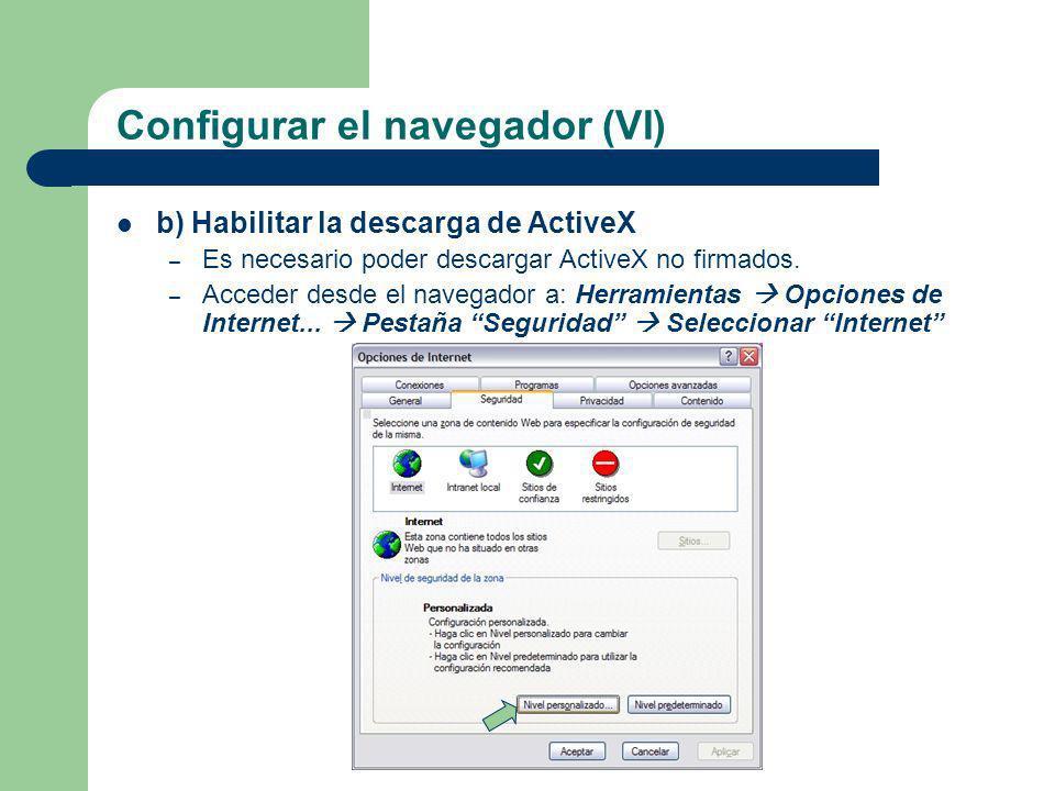 Configurar el navegador (VI)