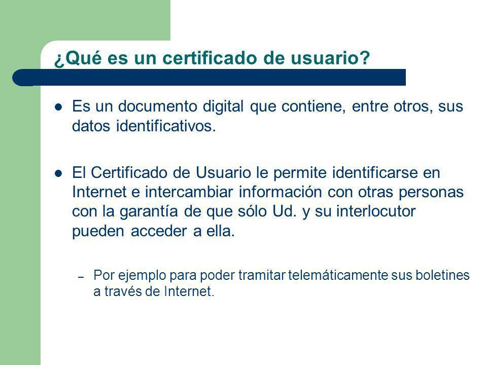 ¿Qué es un certificado de usuario