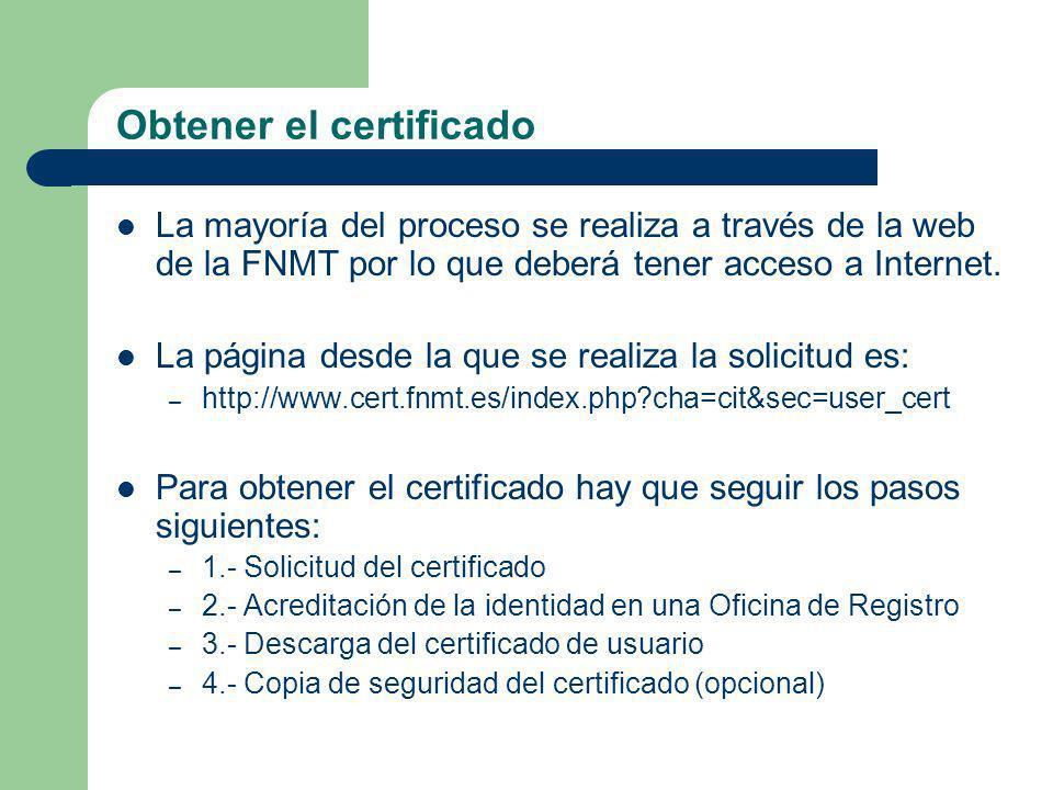 Obtener el certificado