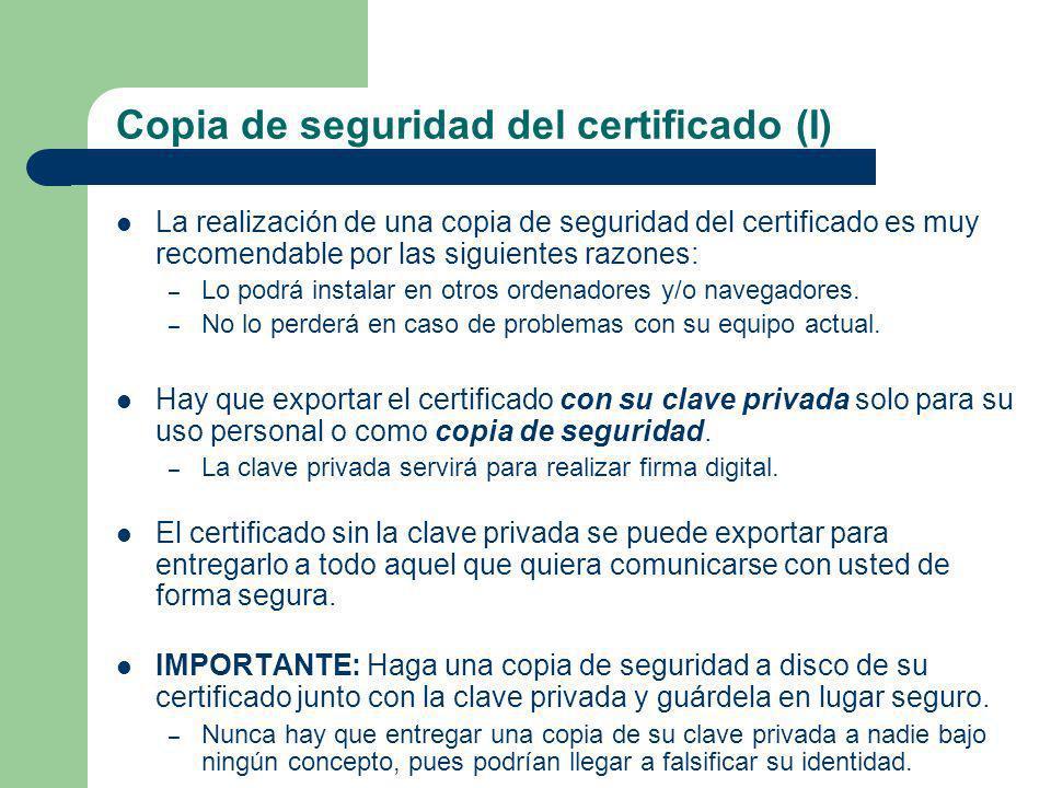 Copia de seguridad del certificado (I)