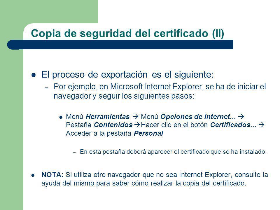 Copia de seguridad del certificado (II)