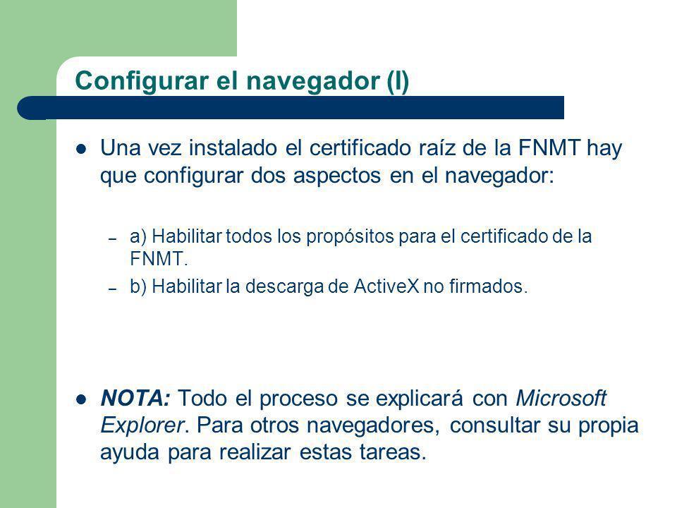 Configurar el navegador (I)