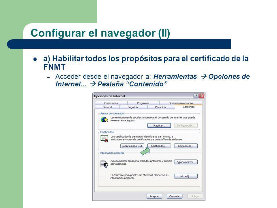 Configurar el navegador (II)