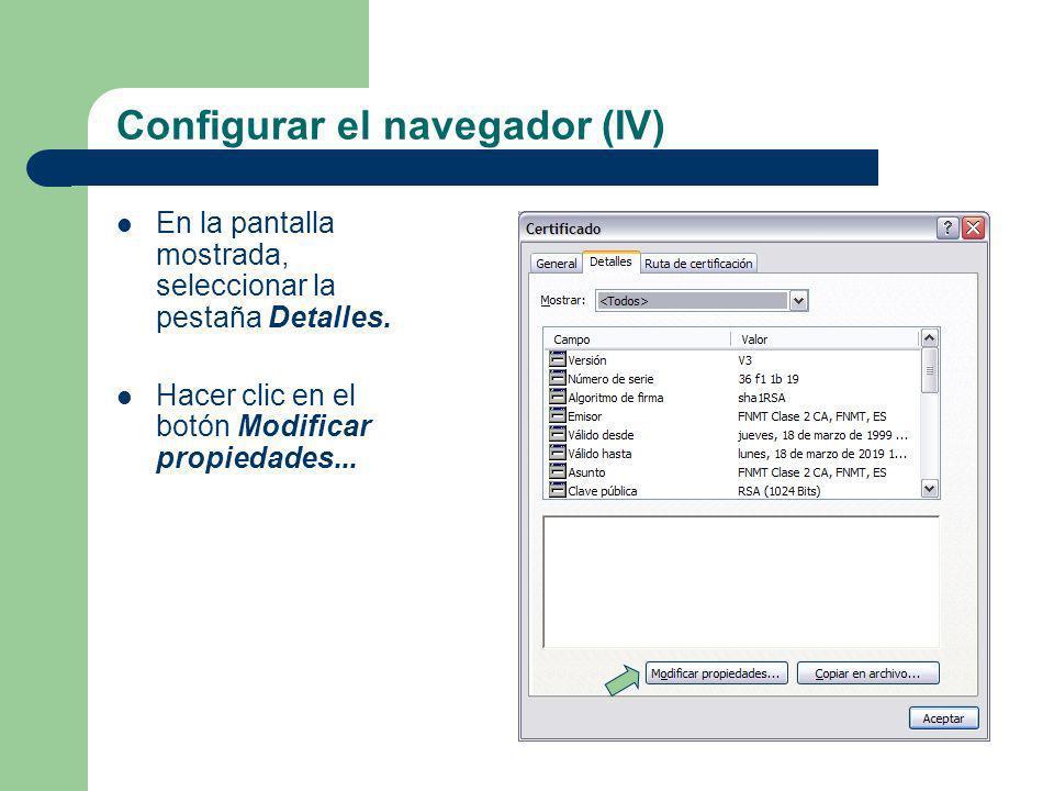 Configurar el navegador (IV)