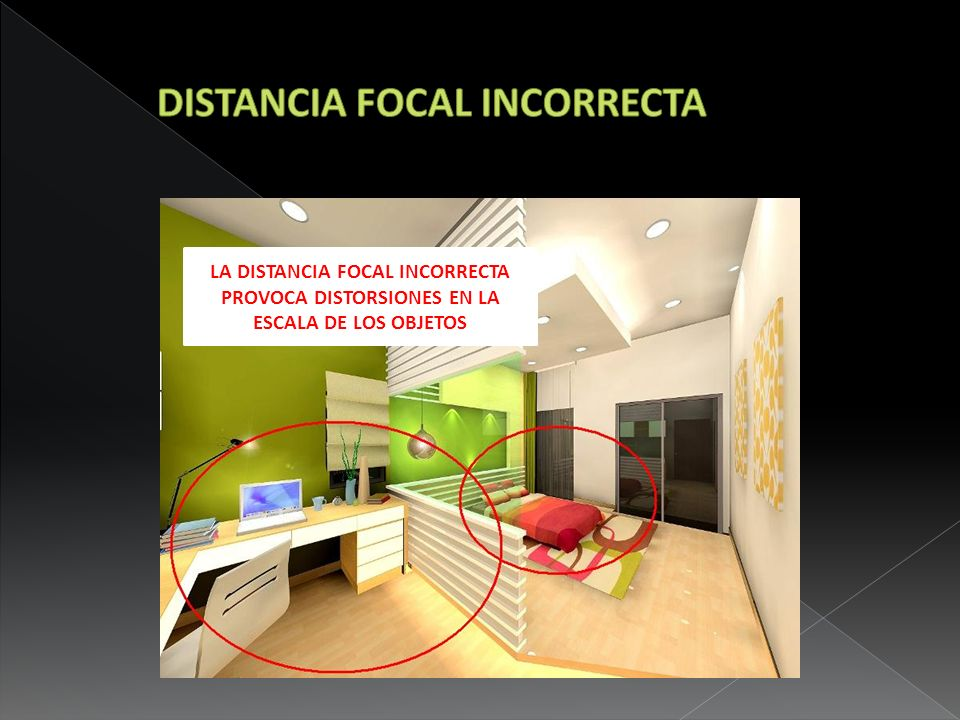 DISTANCIA FOCAL INCORRECTA