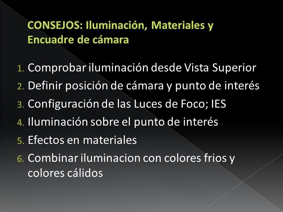 CONSEJOS: Iluminación, Materiales y Encuadre de cámara