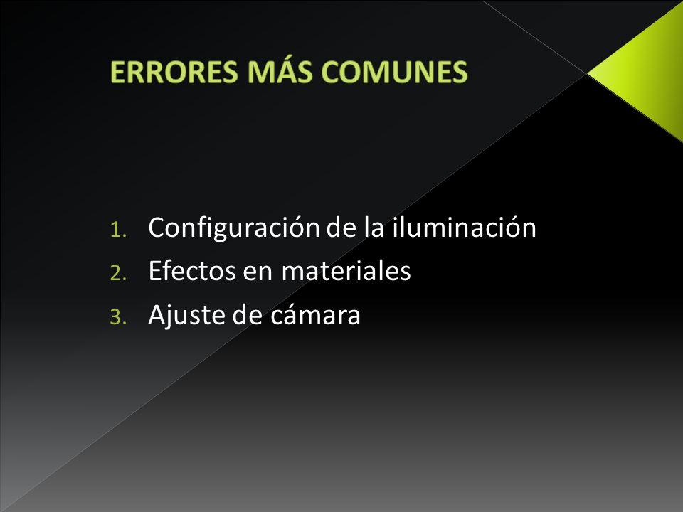 ERRORES MÁS COMUNES Configuración de la iluminación