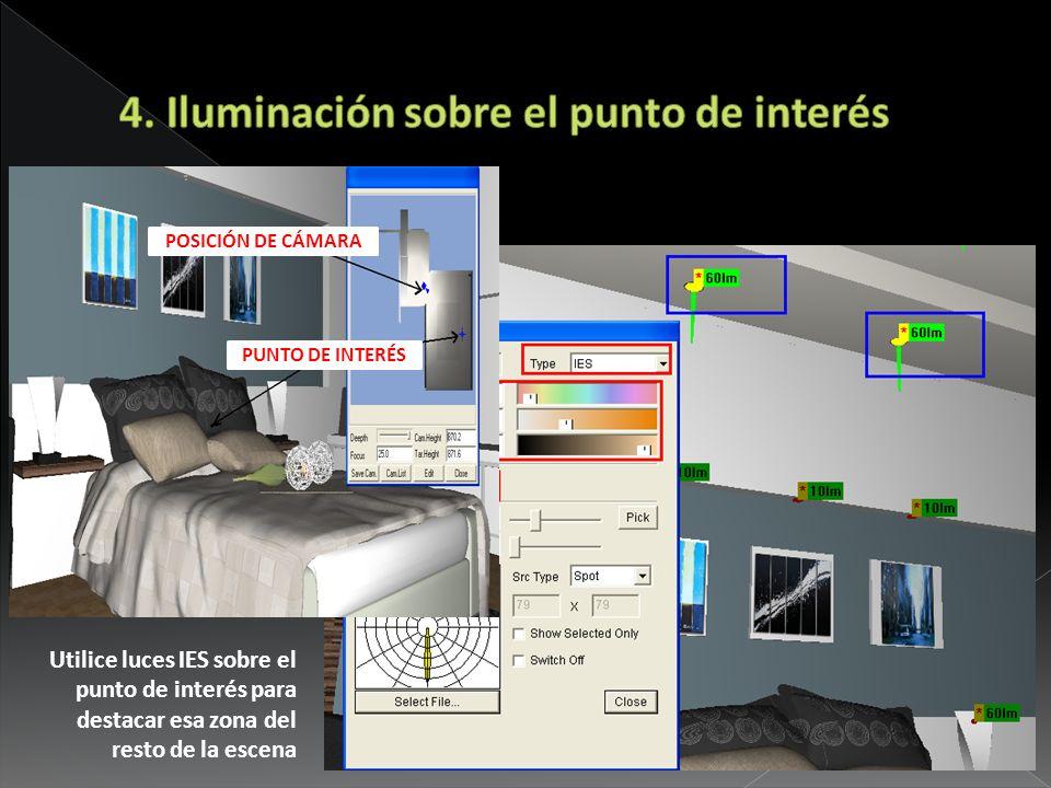 4. Iluminación sobre el punto de interés