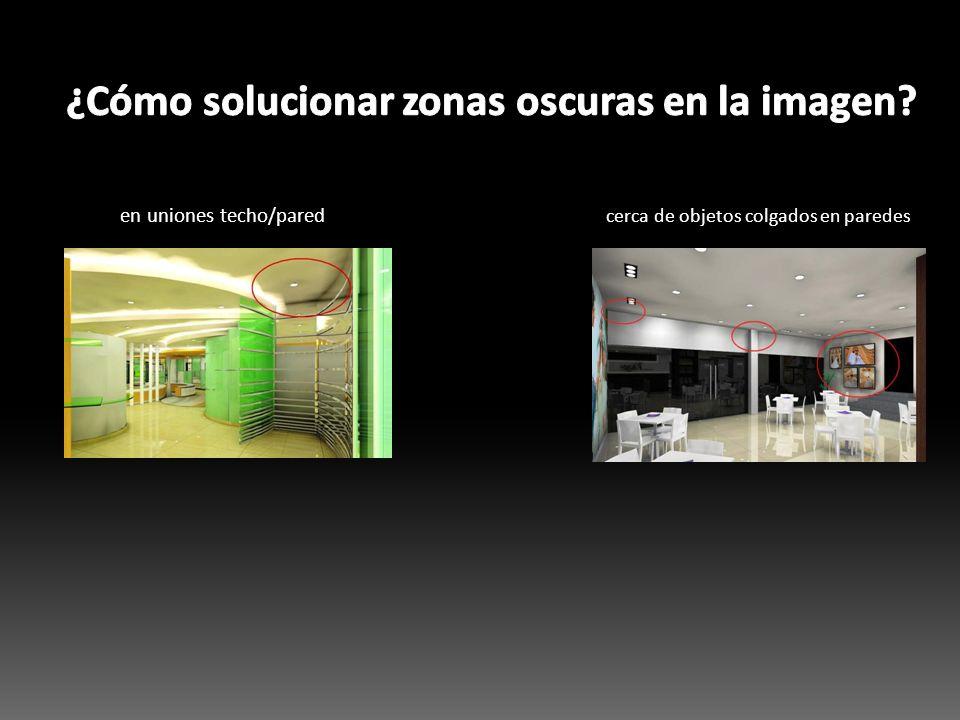 ¿Cómo solucionar zonas oscuras en la imagen