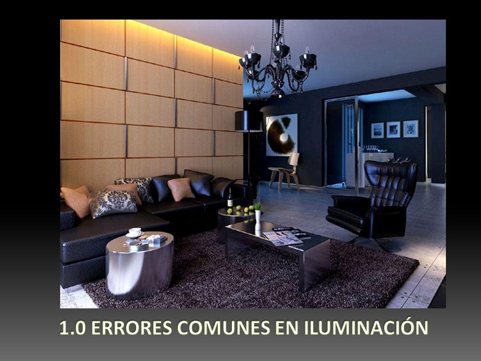 1.0 ERRORES COMUNES EN ILUMINACIÓN