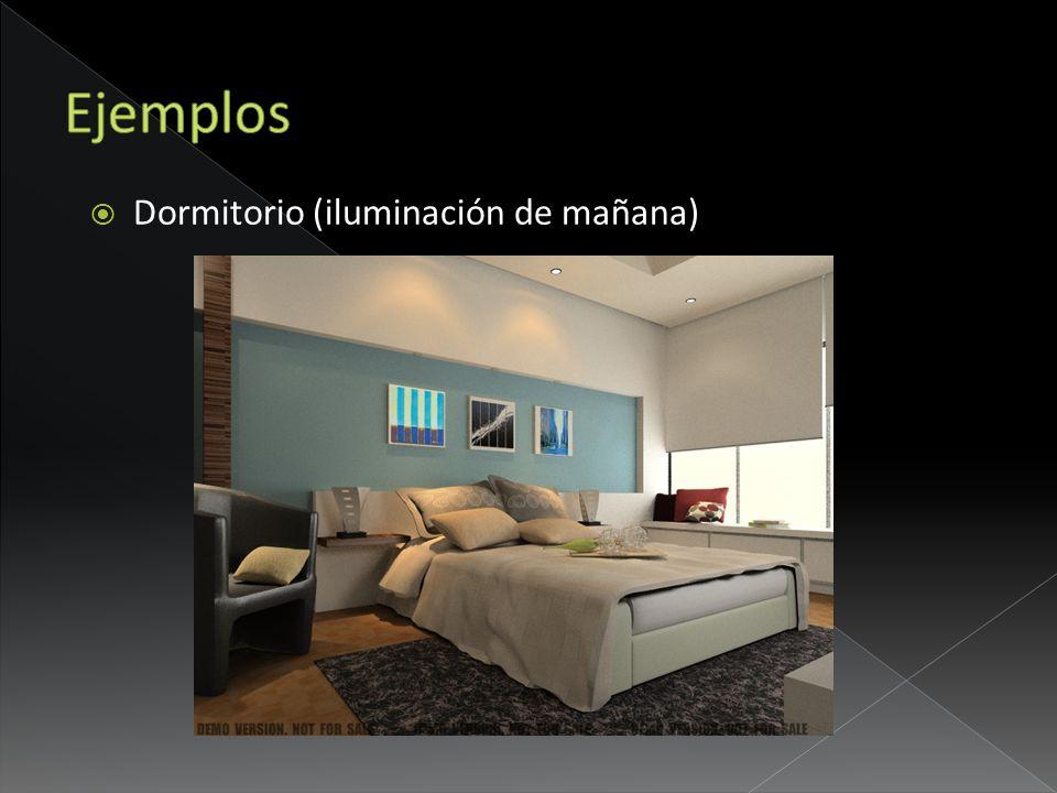 Ejemplos Dormitorio (iluminación de mañana)