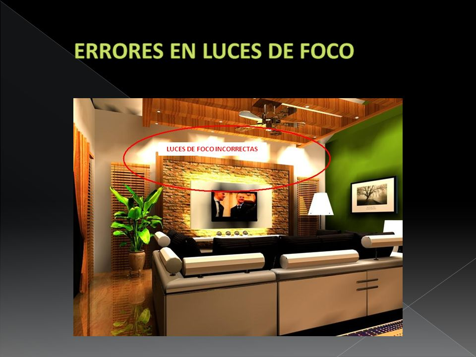ERRORES EN LUCES DE FOCO