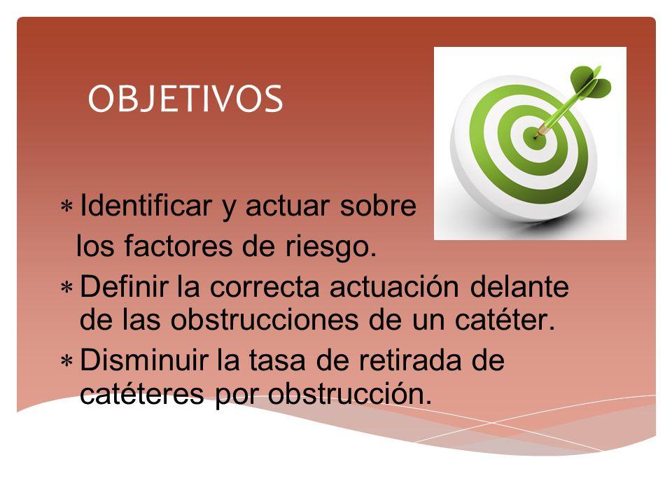 OBJETIVOS Identificar y actuar sobre los factores de riesgo.