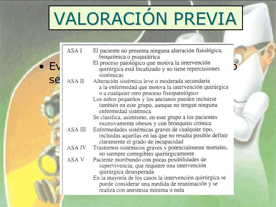 VALORACIÓN PREVIA HISTORIA CLÍNICA