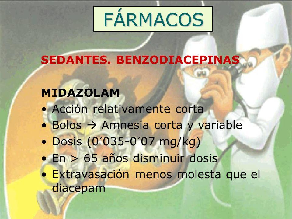 FÁRMACOS SEDANTES. BENZODIACEPINAS MIDAZOLAM