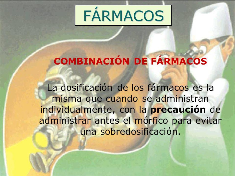 COMBINACIÓN DE FÁRMACOS