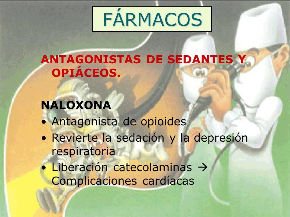 FÁRMACOS ANTAGONISTAS DE SEDANTES Y OPIÁCEOS. NALOXONA