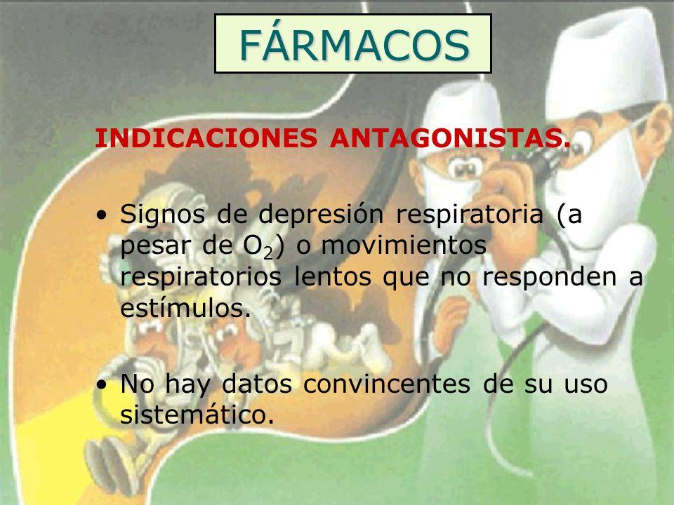 FÁRMACOS INDICACIONES ANTAGONISTAS.