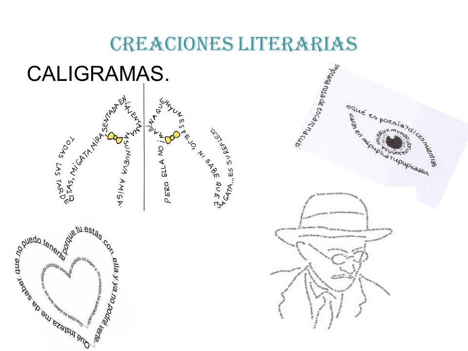 CREACIONES LITERARIAS