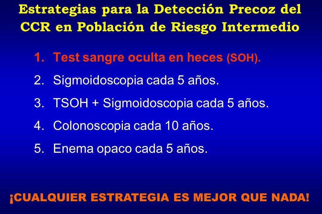 Estrategias para la Detección Precoz del CCR en Población de Riesgo Intermedio