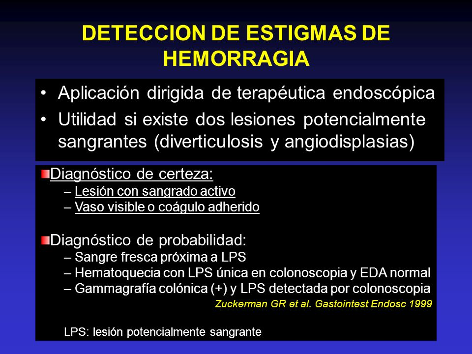DETECCION DE ESTIGMAS DE HEMORRAGIA