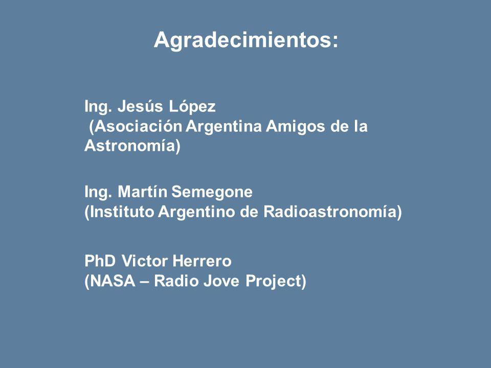 Agradecimientos: Ing. Jesús López